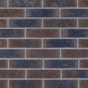 Klinkerriemchen handgeformt Blues Schatten