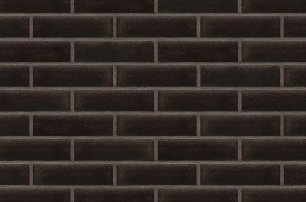 Schwarze Klinkerriemchen Onyxschwarz