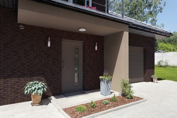 Braune Fassadenriemchen