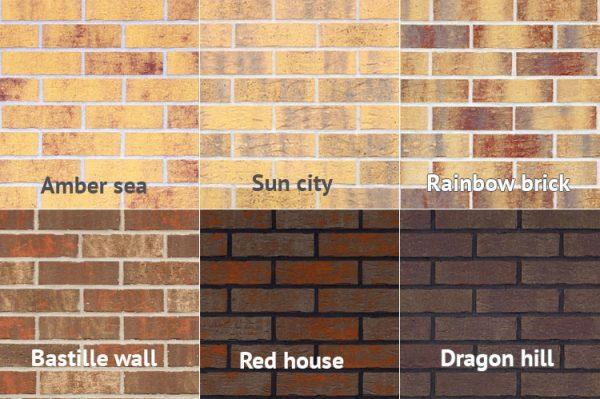 Fassaden Riemchen Muster