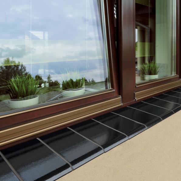 Onyxschwarz Fensterbank