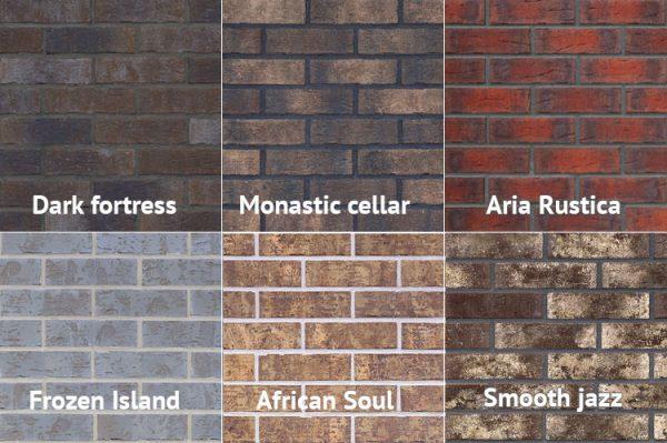 Klinker Muster Hausfassade