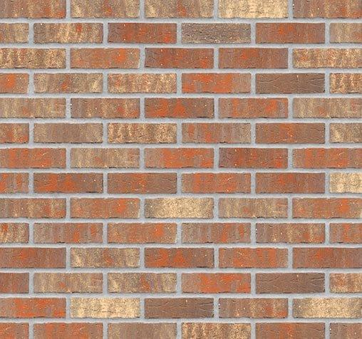 Klinkerriemchen handgeformt Bastille Wand