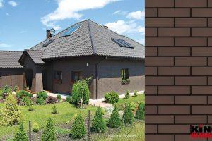 Naturbraun Klinker Fassade