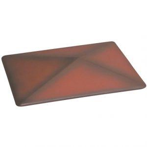 Pfeilerabdeckung rechteckig dunkelrot
