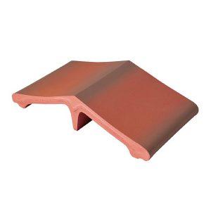 mauerabdeckung rot grau