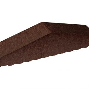 mauerabdeckung glasiert Glazed Brown