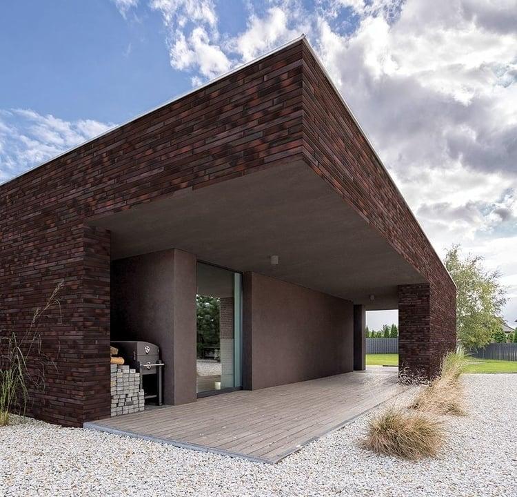 Klinkerriemchen für Klinkerfassade und Kaminverkleidung
