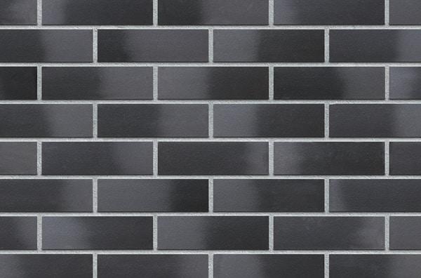 Fassadenklinker schwarz Schwarzer Diamant