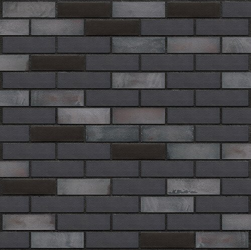 Schwarze Klinker Riemchen