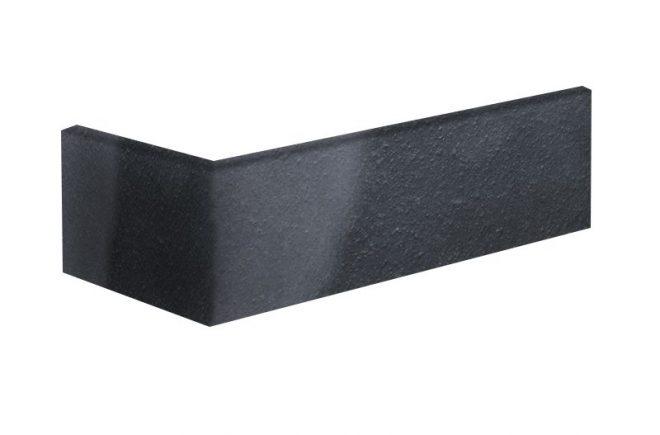 Winkelriemchen grau anthrazit Schwarze Perle