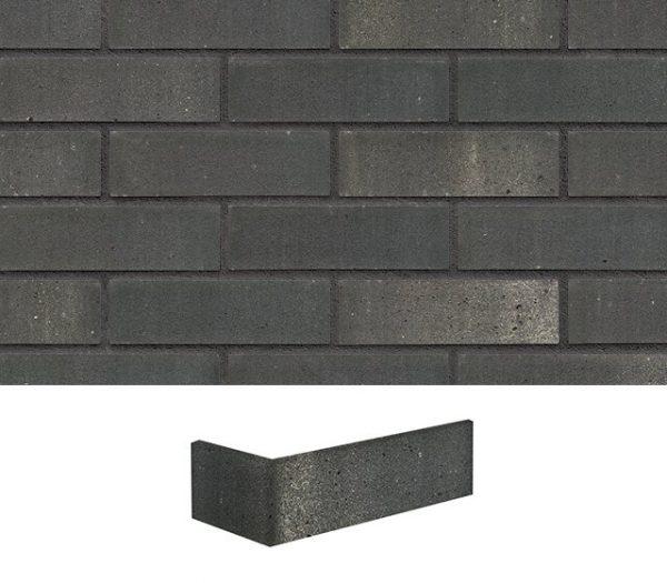 Eckriemchen Klinker grau schwarz