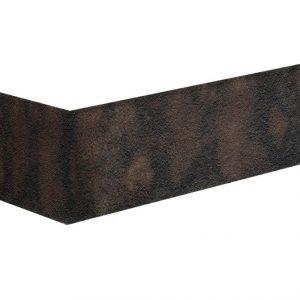 Winkelriemchen aus dunklem Klinker Rostiger Stein
