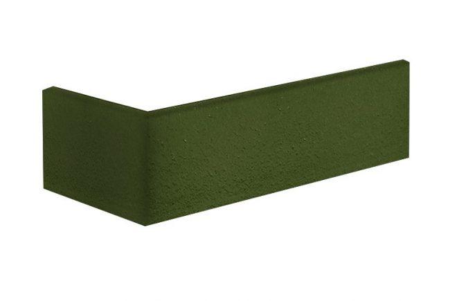 Grüner Klinker Winkelriemchen Grünes Tal