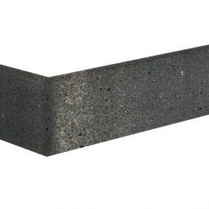 Winkelriemchen aus Klinker grau schwarz Basaltfluss